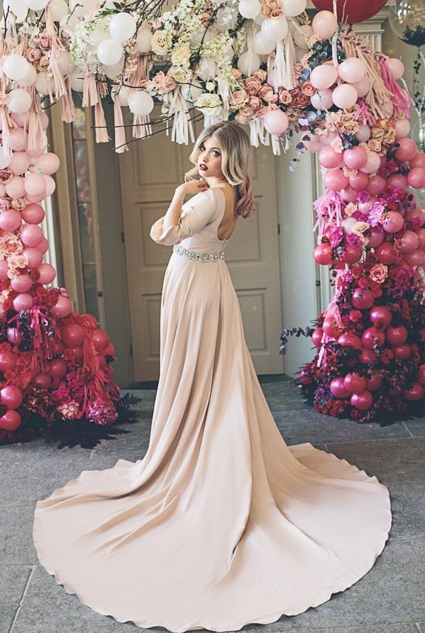 balloon arch flowers wedding the bijou bride