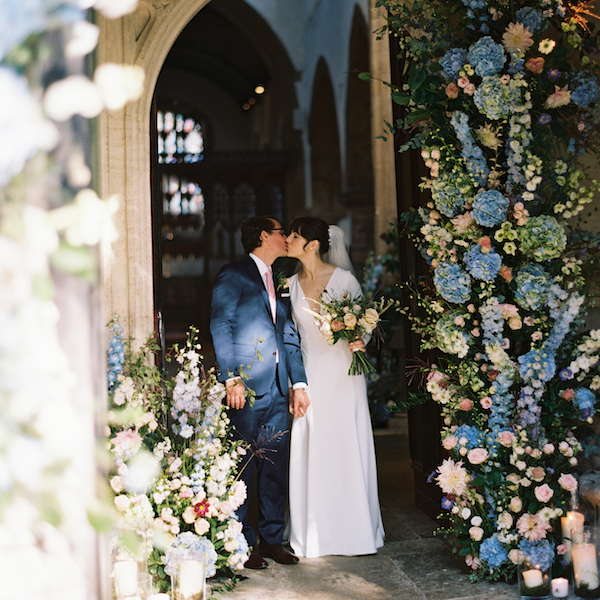 luxury cotswolds church wedding, oxfordshire wedding planner, church wedding arch